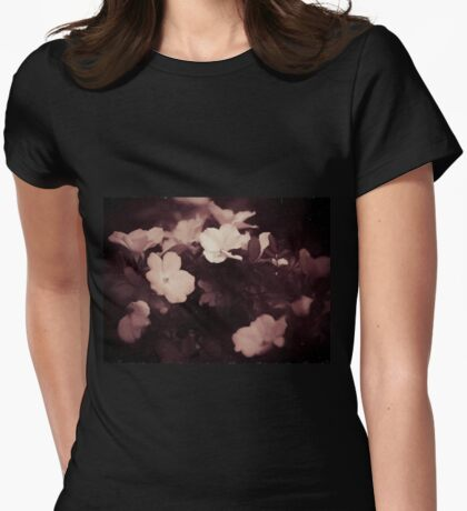 Rose Bush Womens Fitted T-Shirt