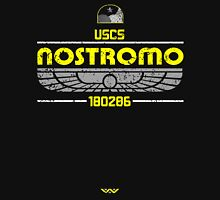 Alien Nostromo Distressed Womens Fitted T-Shirt