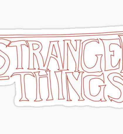 Stranger Things - Drawn Logo  Sticker