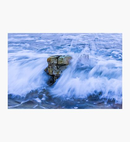 Rock Under Water Photographic Print