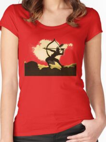 Lotte Reiniger wonderful Silhouette design!~ Women's Fitted Scoop T-Shirt