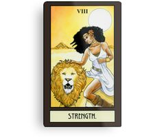 """Strength"" Tarot Card Metal Print"