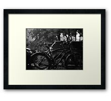 Bicycles In The Rain Framed Print