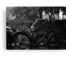 Bicycles In The Rain Canvas Print
