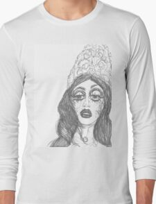Violet Snatched Sharon's Crown Long Sleeve T-Shirt