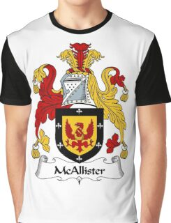 McAllister Coat of Arms / McAllister Family Crest Graphic T-Shirt