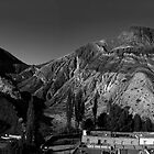 Mountain Panorama of Purmamarca - Monochrome by photograham