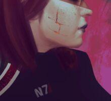 Mass Effect- Commander Shepard (FemShep), Renegade Sticker