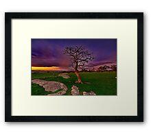 """Gloaming At The Rocks"" Framed Print"