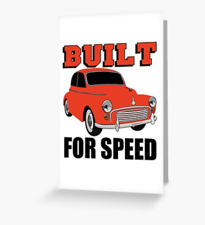 BUILT FOR SPEED-CLASSIC RED Greeting Card