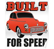 BUILT FOR SPEED-CLASSIC RED Poster