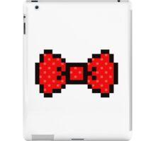 8 bit bow tie iPad Case/Skin