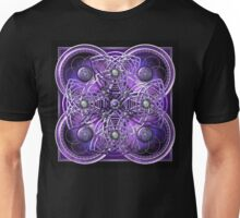 Celtic Cross Tapestry in Silver and Purple Unisex T-Shirt