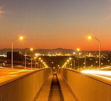 Stockton Bridge Sunset by piepants