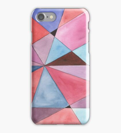Mosaic in Red, Magenta, Blue and Purple iPhone Case/Skin