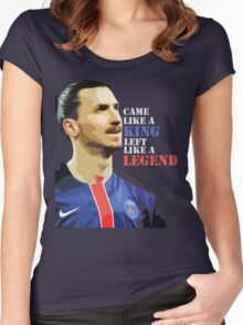 Ibra left like a legend Women's Fitted Scoop T-Shirt