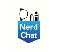 Nerd Chat Logo (White Lettering) Art Print