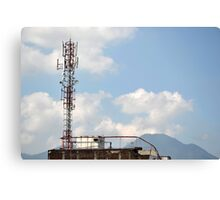 communication tower Canvas Print