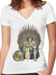 Game of Thronedge Women's Fitted V-Neck T-Shirt