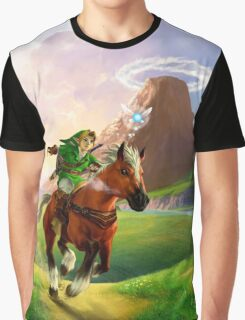 TLOZ Ocarina of Time - Hyrule Field Graphic T-Shirt
