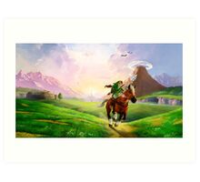 TLOZ Ocarina of Time - Hyrule Field Art Print