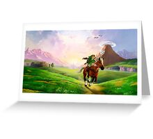 TLOZ Ocarina of Time - Hyrule Field Greeting Card