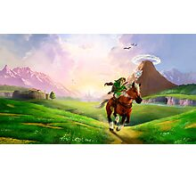 TLOZ Ocarina of Time - Hyrule Field Photographic Print