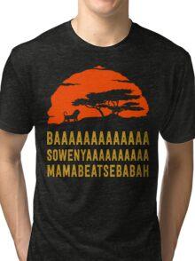 BAAAAAAAAAAAAA SOWENYAAAAAAAAAA MAMABEATSEBABAH African Lion T Shirt Tri-blend T-Shirt