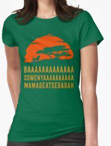 BAAAAAAAAAAAAA SOWENYAAAAAAAAAA MAMABEATSEBABAH African Lion T Shirt Womens Fitted T-Shirt