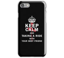 KEEP A RIDE iPhone Case/Skin