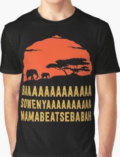 BAAAAAAAAAAAAA SOWENYAAAAAAAAAA MAMABEATSEBABAH African Sunrise Elephants Shirt Graphic T-Shirt