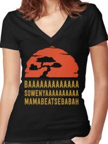 BAAAAAAAAAAAAA SOWENYAAAAAAAAAA MAMABEATSEBABAH Tee Shirt Women's Fitted V-Neck T-Shirt