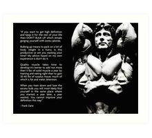Frank Zane Bodybuilding Advice Art Print