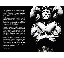 Frank Zane Bodybuilding Advice Photographic Print