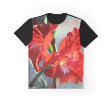 Red Hybrid Lilies in Evening Light Graphic T-Shirt