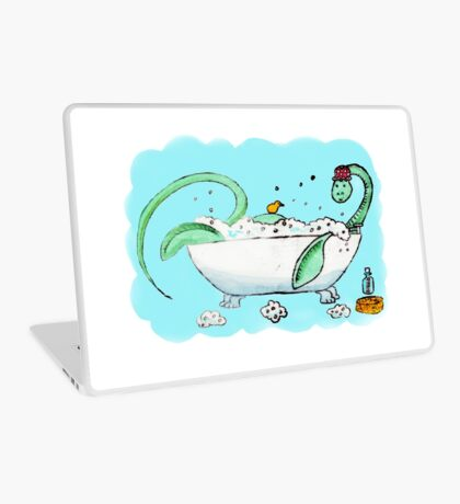 Plesiosaur in the bath Laptop Skin