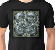Celtic Hearts Tapestry in Silver and Green Unisex T-Shirt