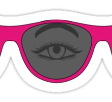Triclops Pink Three eye sunglasses Sticker