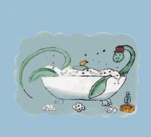 Plesiosaur in the bath Kids Tee