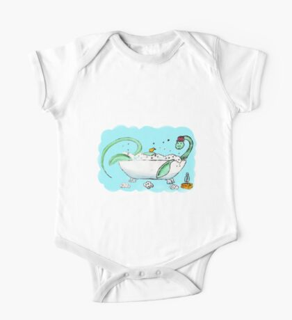 Plesiosaur in the bath One Piece - Short Sleeve