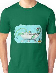 Plesiosaur in the bath Unisex T-Shirt