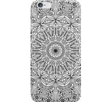 Mandala Line Art - Flower Mandala, Yoga, Spiritual, Black and White, Detailed Coloring iPhone Case/Skin