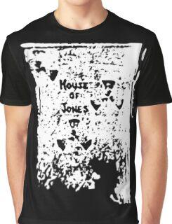The House of Jones - white on black Graphic T-Shirt