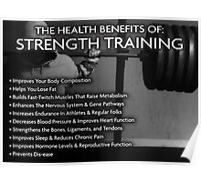 The Health Benefits of Strength Training Poster