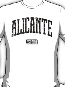 Alicante Spain (Black Print) T-Shirt