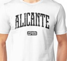 Alicante Spain (Black Print) Unisex T-Shirt