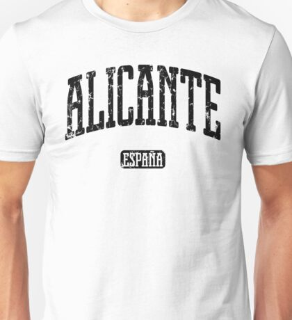 Alicante Spain (Black Print) Unisex T-Shirt