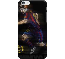 Lionel Messi FIFA Football Soccer Poster Typography Art iPhone Case/Skin