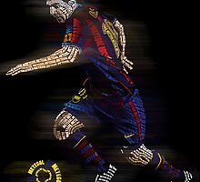 Lionel Messi FIFA Football Soccer Poster Typography Art by Bemmygail Abanilla
