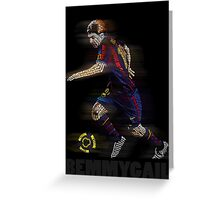 Lionel Messi FIFA Football Soccer Poster Typography Art Greeting Card